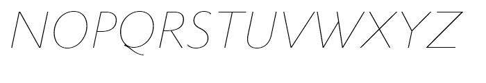 Metro Nova Thin Italic Font UPPERCASE
