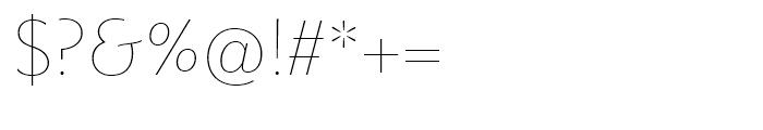 Metro Nova Thin Font OTHER CHARS