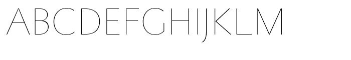 Metro Nova Thin Font UPPERCASE