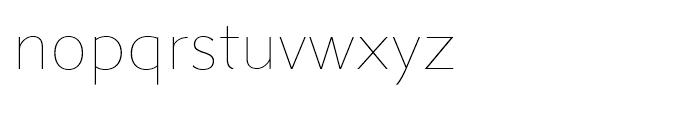 Metro Nova Thin Font LOWERCASE