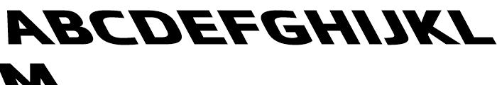 Metronic Wide Reverso Black Font UPPERCASE