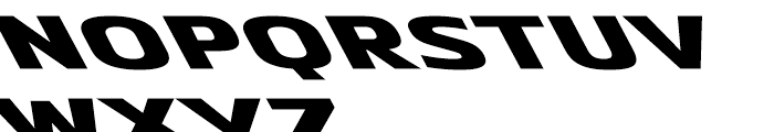 Metronic Wide Reverso Ultra Font LOWERCASE