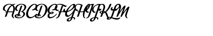 Metroscript Regular Font UPPERCASE