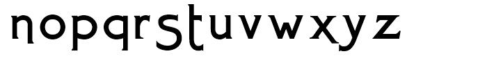 Mexborough Flamboyant Font LOWERCASE