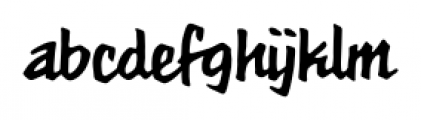 MeanStreets Marker BB Regular Font LOWERCASE