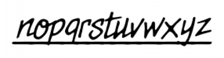 MeanStreets UL BB Italic Font LOWERCASE