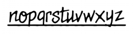 MeanStreets UL BB Regular Font LOWERCASE