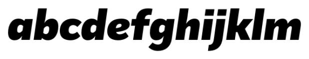 Mediator Black Italic Font LOWERCASE