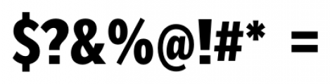 Mediator Condensed Extra Bold Font OTHER CHARS
