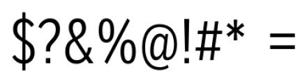 Mediator Condensed Light Font OTHER CHARS