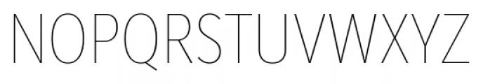 Mediator Condensed Thin Font UPPERCASE