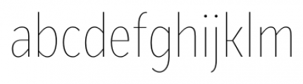 Mediator Condensed Thin Font LOWERCASE