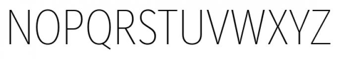 Mediator Condensed Ultra Light Font UPPERCASE