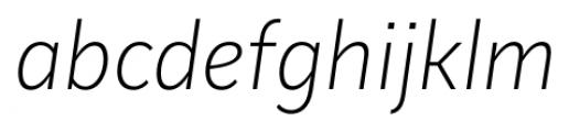 Mediator Extra Light Italic Font LOWERCASE