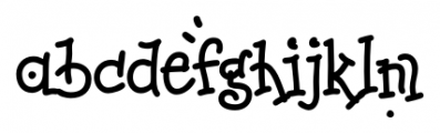 Melissa Regular Font LOWERCASE