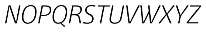 Mellnik Text SuperLight Italic Font UPPERCASE