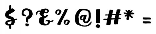 Meltow Brush Regular Font OTHER CHARS
