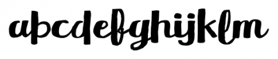 Meltow Brush Regular Font LOWERCASE