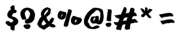 Meltow Marker Regular Font OTHER CHARS