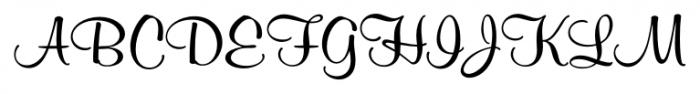 Melville Pro Regular Font UPPERCASE