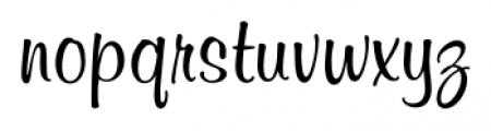 Melville Regular Font LOWERCASE