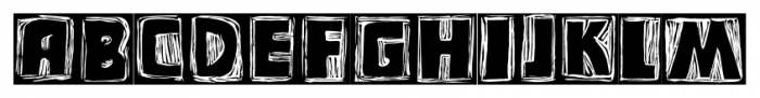 Messy Linocut 2D Dark Font UPPERCASE