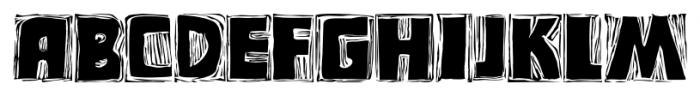 Messy Linocut 2D Regular Font UPPERCASE
