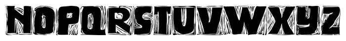 Messy Linocut 2D Regular Font LOWERCASE