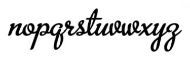 Metroscript Regular Font LOWERCASE