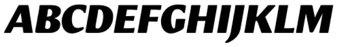 Meadow Pro Black Italic Font UPPERCASE