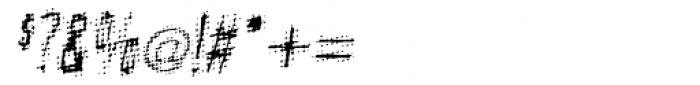 Meanstreak Oblique Font OTHER CHARS