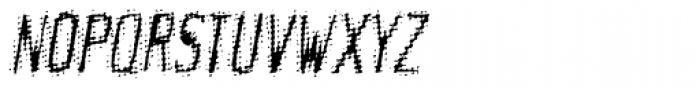 Meanstreak Oblique Font UPPERCASE