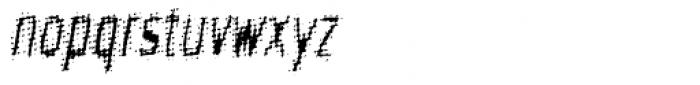 Meanstreak Oblique Font LOWERCASE