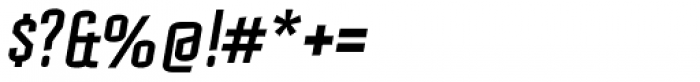 Mecanic Oblique Font OTHER CHARS