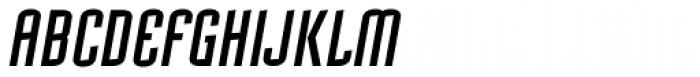 Mecanic Oblique Font UPPERCASE
