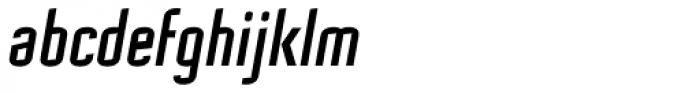 Mecanic Oblique Font LOWERCASE