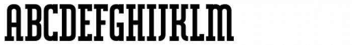 Mecano Serif Font UPPERCASE