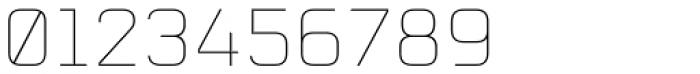 Mecano UltraLight Font OTHER CHARS