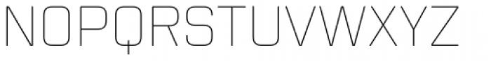 Mecano UltraLight Font UPPERCASE