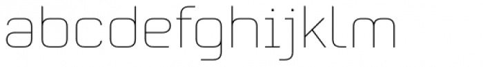 Mecano UltraLight Font LOWERCASE