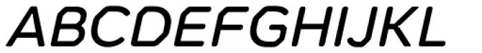Meccanica Medium Oblique Font UPPERCASE