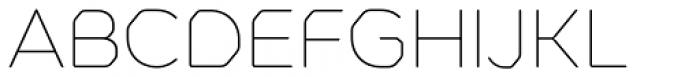 Meccanica Thin Font UPPERCASE