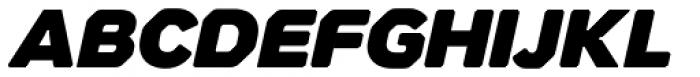 Meccanica Ultra Oblique Font UPPERCASE