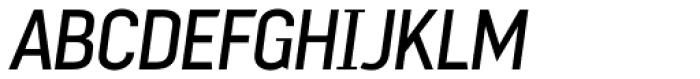 Mechanic Gothic DST Light Italic Font UPPERCASE