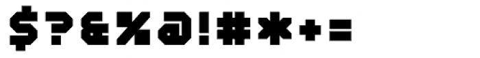 Mechanical Black Font OTHER CHARS