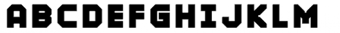 Mechanical Black Font UPPERCASE