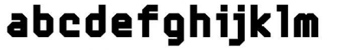Mechanical Black Font LOWERCASE