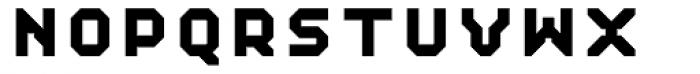 Mechanical ExtraBold Font UPPERCASE