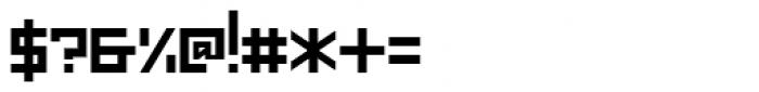 Mechanikschrift Font OTHER CHARS