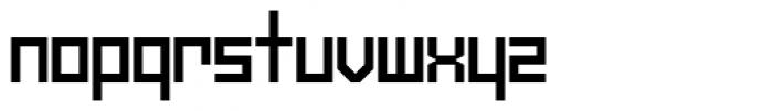 Mechanikschrift Font LOWERCASE